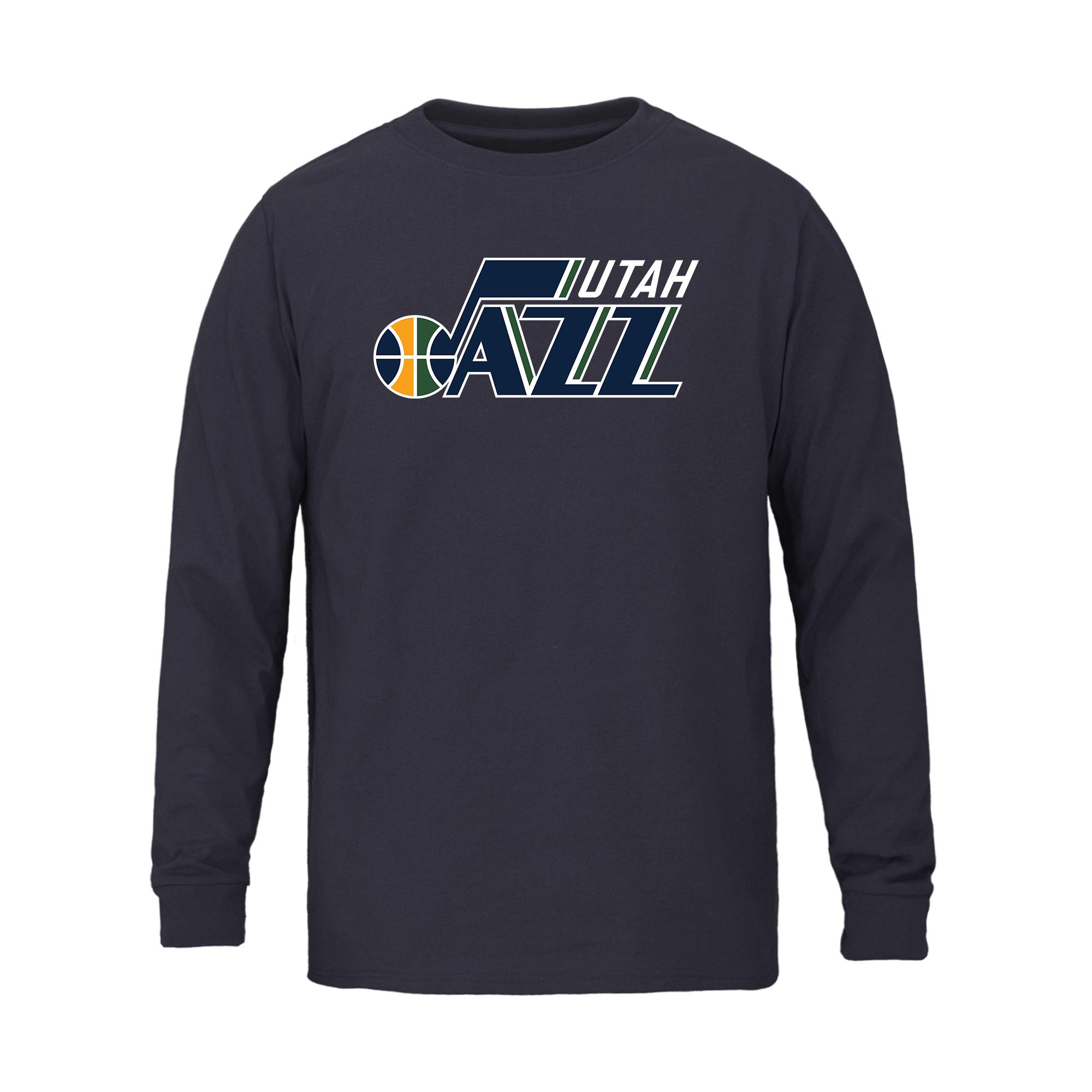 Utah Jazz Fanatics Branded Youth Primary Logo Long Sleeve T-Shirt - Navy