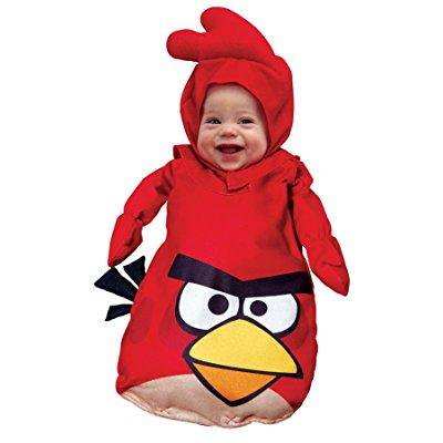 uhc baby's rovio angry bird red outfit infant fancy dress halloween costume, os (0-9m)