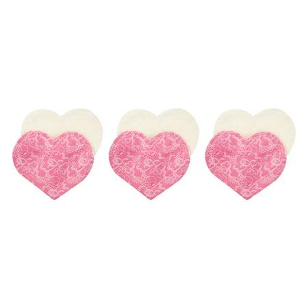 Lace Washable - Fresh Baby Mama Washable Nursing Pads, Pink Lace - 3 PK, 3.0 PACK