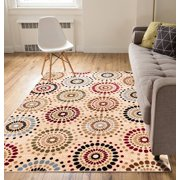 Casual Area Rug 3x5 4x6 311 X 53 Easy To Clean Stain Fade Resistant Shed Free Abstract Retro Geometric Pattern Soft Living Dining Room