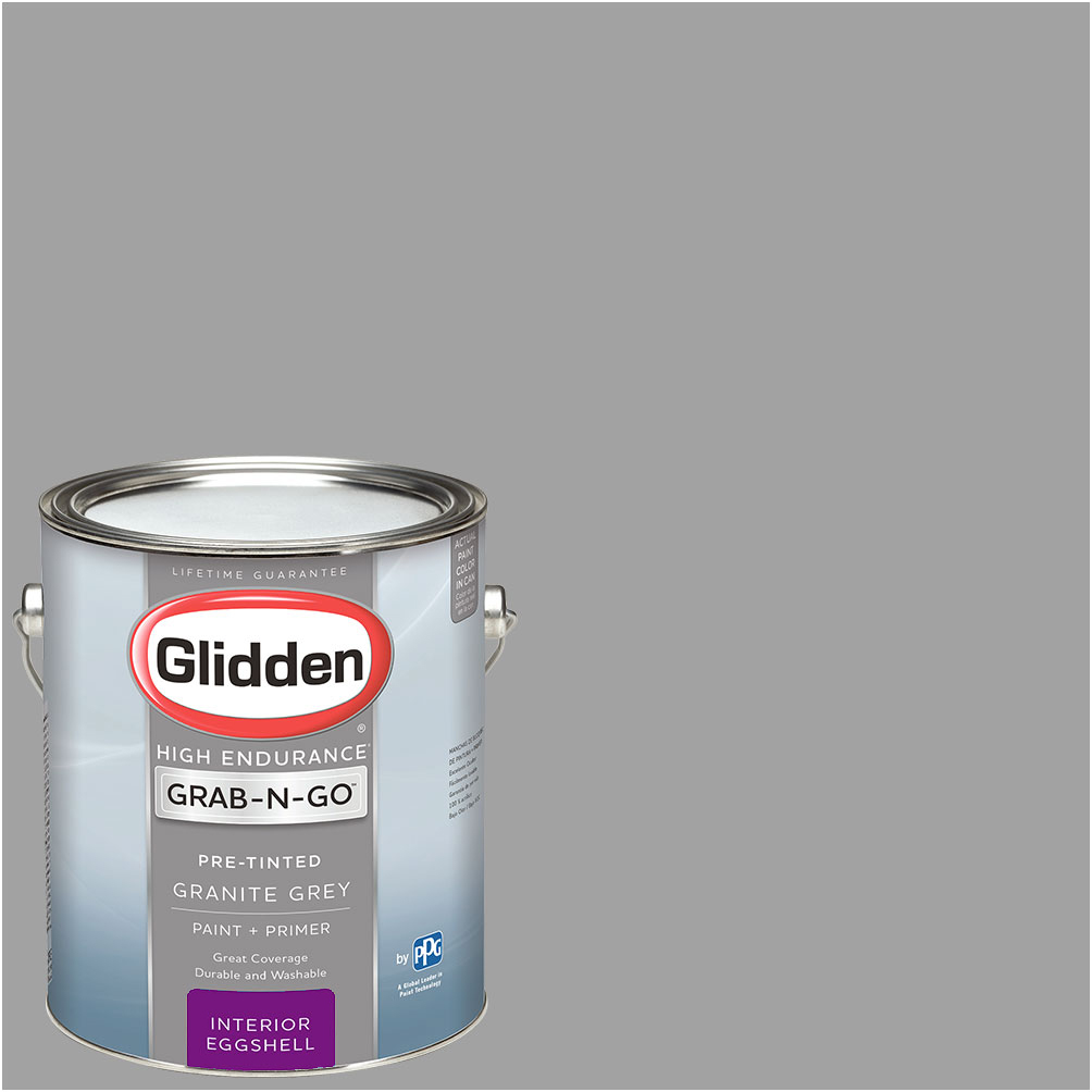 Wonderful Glidden Pre Mixed Ready To Use, Interior Paint And Primer, Granite Grey, 1