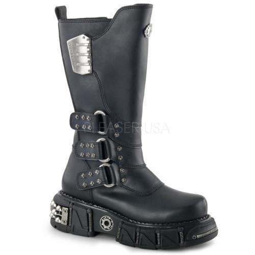DMA3003 BPU Demonia Vegan Boots Unisex Blk Pu Size: 9 by