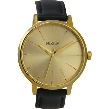 Nixon A1081501 The Kensington Leather Gold Watch