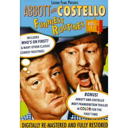 Abbott And Costello Funniest Routines Volume 1 DVD