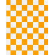 Handy Wacks FDP12YC-X, 12x12-Inch White Flat Deli Paper with Yellow Checkerboard Print, 1000-Piece Pack (Checkered Paper)