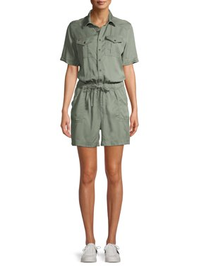 EV1 from Ellen DeGeneres Short Sleeve Jumpsuit Romper Womens