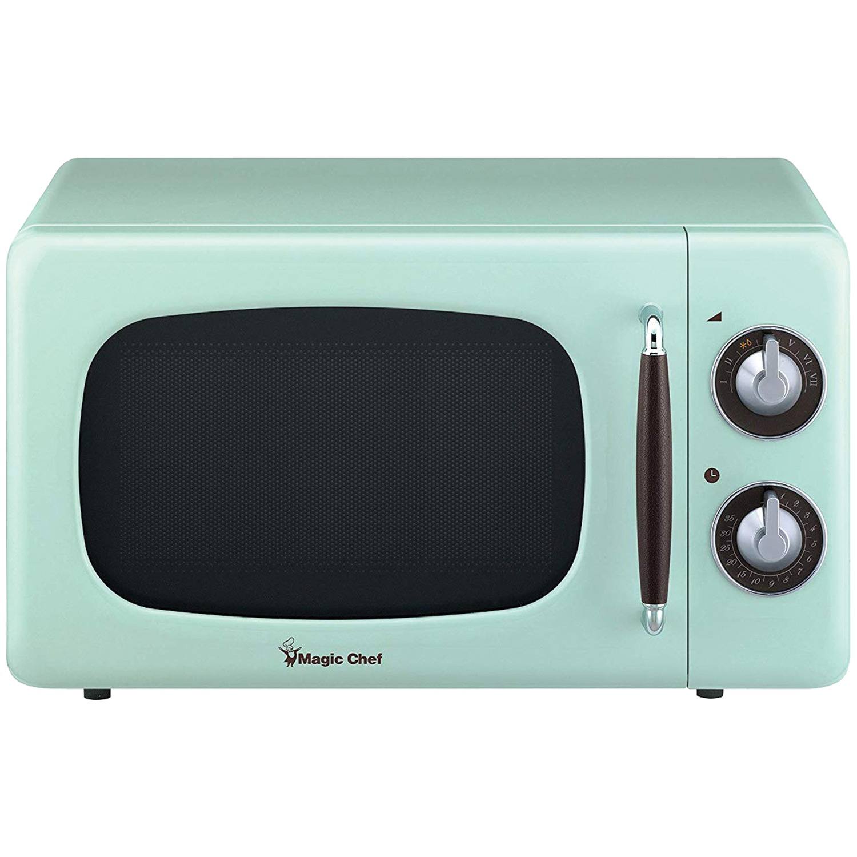Magic Chef MCD770CM .7 Cubic -ft 700-Watt Retro Microwave (Mint Green)