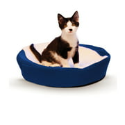K&H Pet Products Ultra Memory Round Cuddle Nest, Blue, 19""
