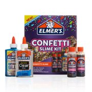 Elmer's Confetti Slime Kit: Supplies Include Metallic & Clear Glue, Confetti Magical Liquid Activator, 4 Count