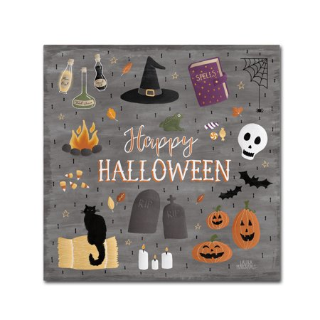 Trademark Fine Art 'Haunted Halloween II' Canvas Art by Laura Marshall - Laura Halloween