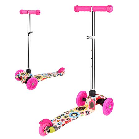 Kick Scooter for Kids 3 Wheel Scooter, 4 Adjustable Height