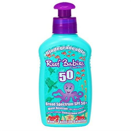 reef safe biodegradable waterproof spf 50+ babies, kids,
