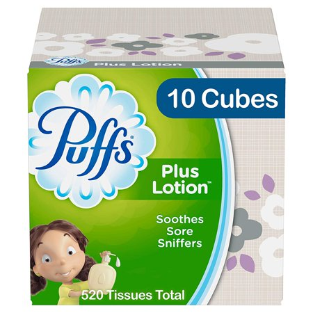 Puffs Plus Lotion Facial Tissues, 10