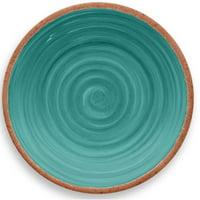 TarHong Rustic Swirl Melamine Salad Plate (Set of 6)