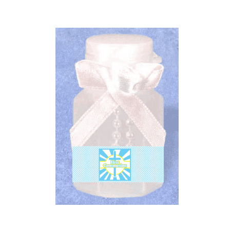 First Communion Ribbon (First Communion Boy 12pack Mini Bubble)