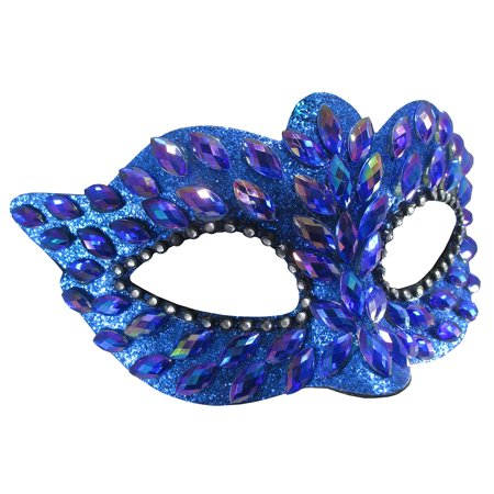 Black And Green Masquerade Mask (Iridescent Jeweled Masquerade Eye Mask, One)
