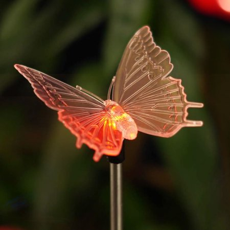 Butterfly Solar Garden Light (Outdoor Solar Garden Stake Light Solar Powered Color Changing LED Decorative Light Butterfly for Christmas Garden Patio Decorations )