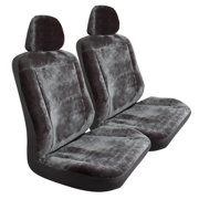 Car Seat Cover, Gray Velvet High Back Universal Truck Car Seat Covers Set,  2pc