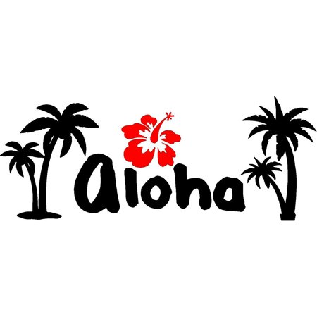 VWAQ Aloha Wall Decal Hibiscus Flower Wall Sticker Hawaiian Home Decor VWAQ-1086 (12