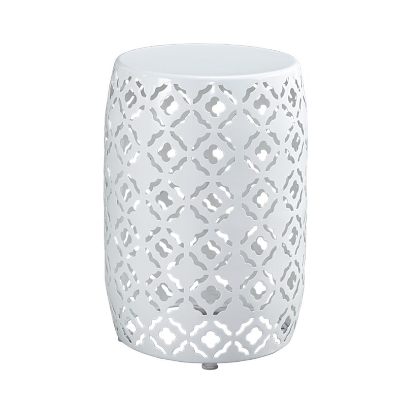 Ashley Marxim Round End Table in White