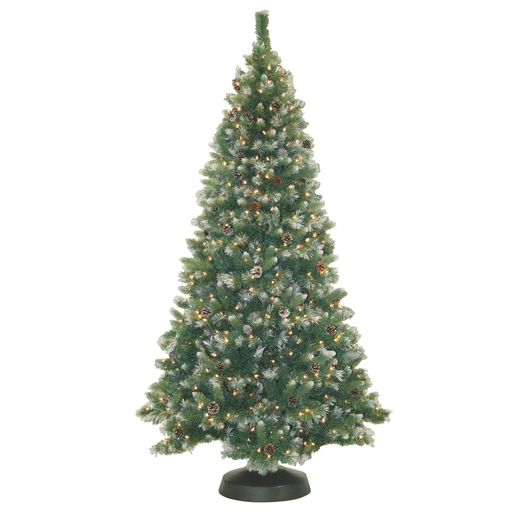Pre-Lit 7' Frosted Pine Artificial Christmas Tree, 500 Clear Lights
