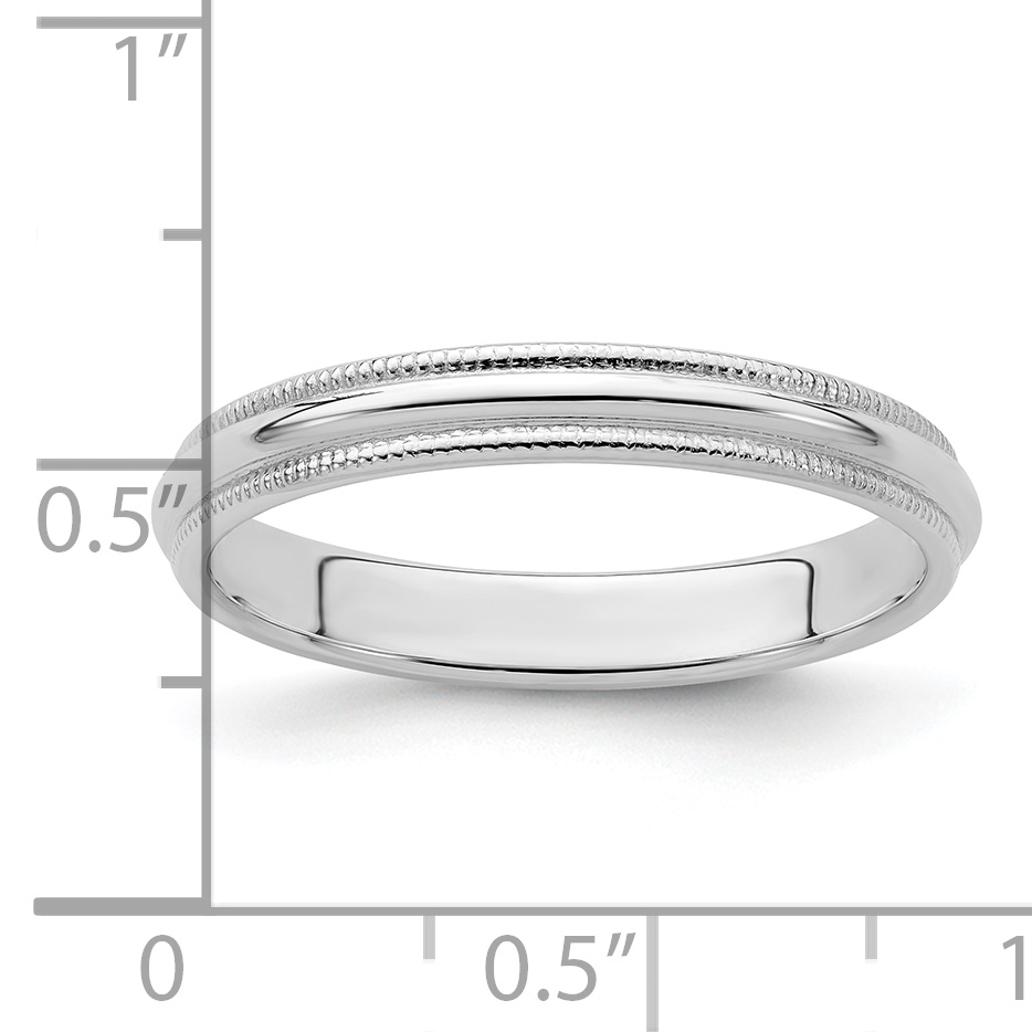 925 Sterling Silver 8mm Half Round Milgrain Size 5.5 Wedding Ring Band Classic Fine Jewelry Gifts For Women For Her