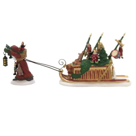Dept 56 Accessory FATHER CHRISTMAS'S JOURNEY Dickens Village Santa Toys - Journey Santa