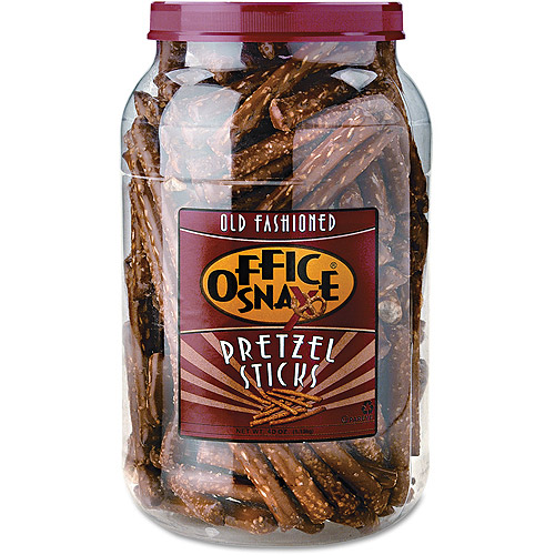 Office Snax Old Fashioned Pretzel Sticks, 40 oz