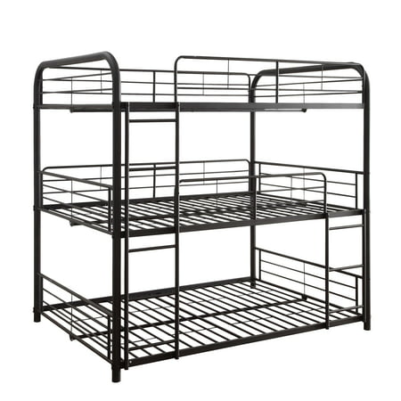Acme Cairo Twin Triple Bunk Bed in Sandy Black