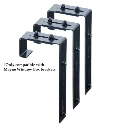 Mayne Adjustable Deck Rail Bracket 3 Pack