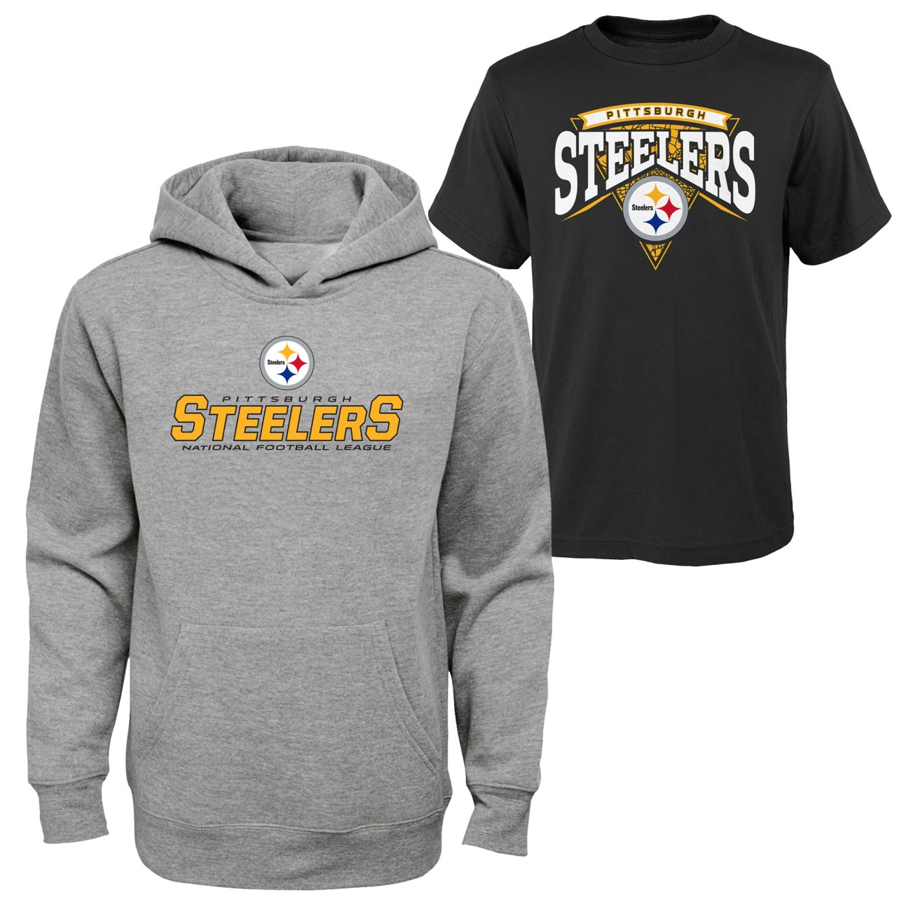 "Pittsburgh Steelers Youth NFL ""Layered"" T-Shirt & Hooded Sweatshirt Combo Set"