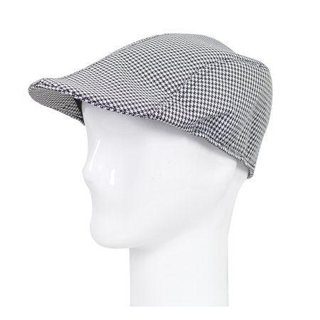 Premium Hounstooth Golf Ivy Driver Cabby Newsboy Cap Hat (Driver Hat Cap)