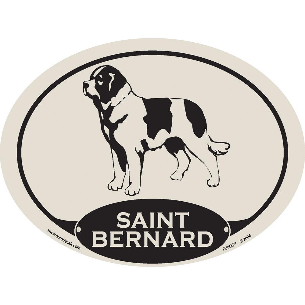European Style Saint Bernard Auto Decal