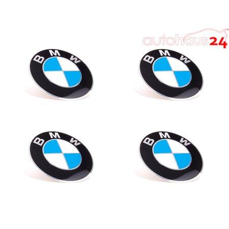 - BMW WHEEL CENTER CAP EMBLEM DECALS STICKERS 70MM SET OF 4 GENUINE NEW OEM