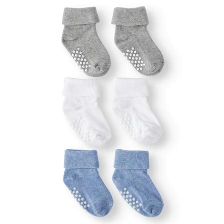 Turn Cuffs Non Skid - Jefferies Socks Non-Skid Turn Cuff Socks, 3-Pack (Baby Boys)