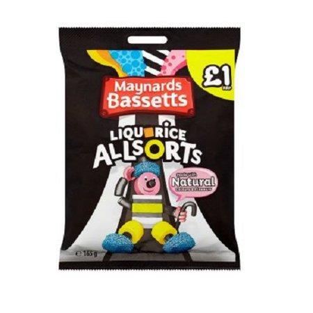 - Maynards Bassetts Liquorice Allsorts £1 Sweets Bag (165g x 3)