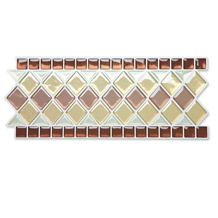 Peel stick backsplash kitchen bathroom wall tile borders for Peel and stick wallpaper walmart