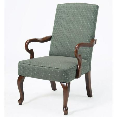 Crystal Patina Gooseneck Arm Chair Amish Cherry Arm Chair
