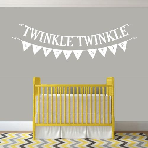 Sweetums Twinkle Twinkle Little Star 36-inch x 12-inch Nursery Wall Decal
