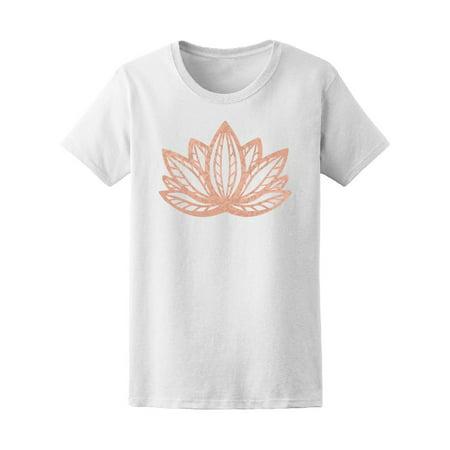 Metallic Rose Gold Foil Lotus Tee Women