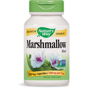 Nature's Way Marshmallow Root 480 mg Non-GMO Project Verified, Tru-ID Certifed, 100 Ct