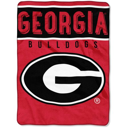 - Georgia Bulldogs NCAA Royal Plush Raschel Blanket (Basic Series) (60x80)