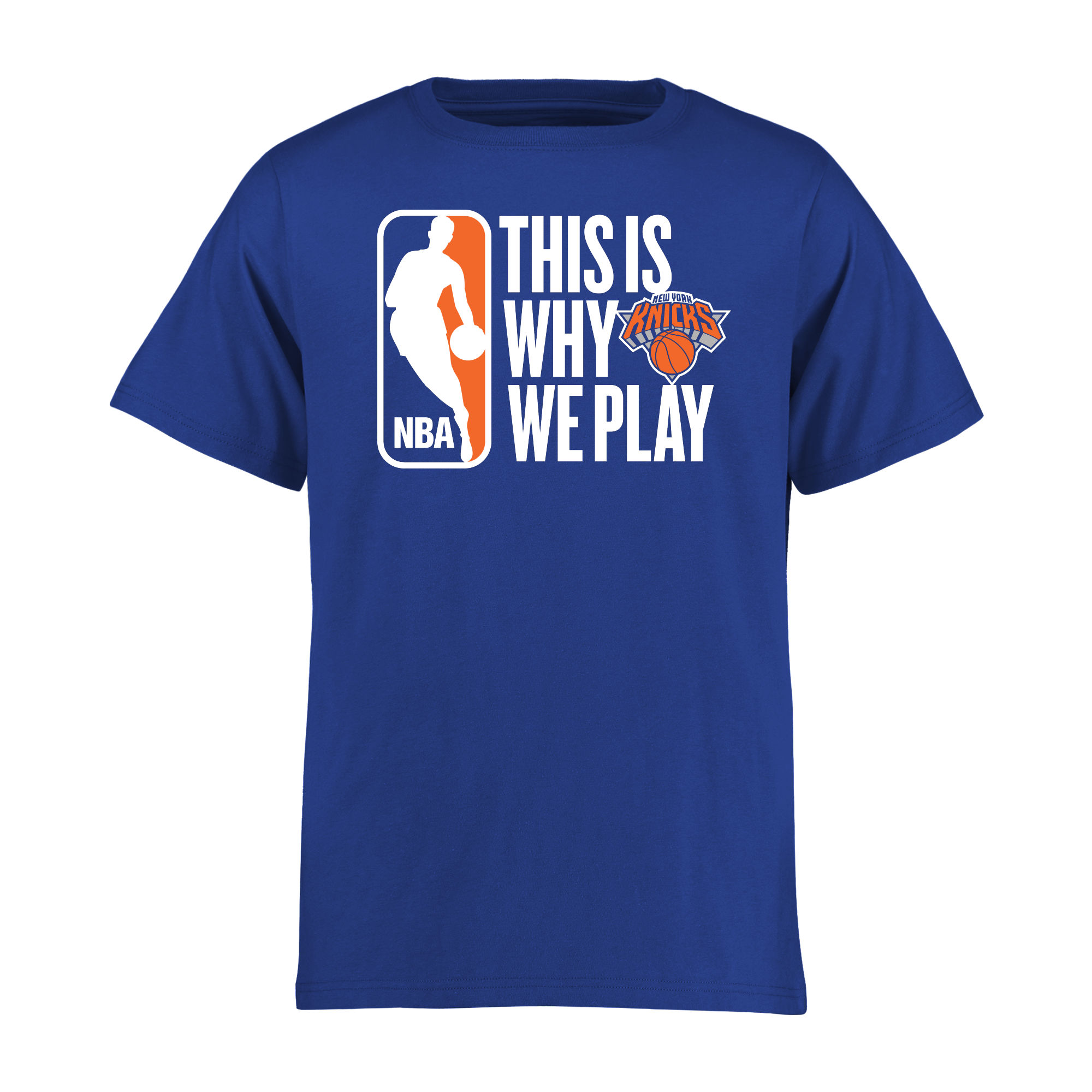 New York Knicks Youth This Is Why We Play T-Shirt - Royal