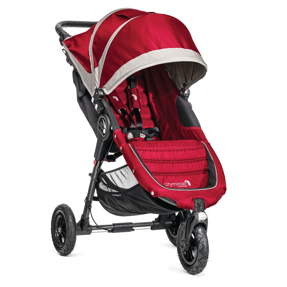Baby Jogger City Mini GT Single - Crimson/Gray