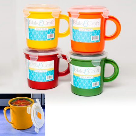 (1 BPA Free Take Out Soup Coffee Mug Cup 23 oz Microwave Safe Food Container Bowl)