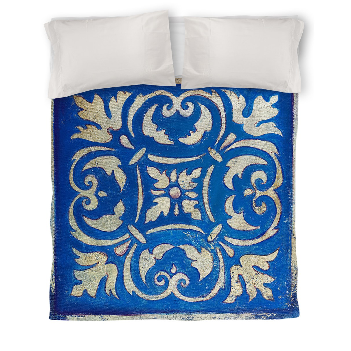 IDG Blue Mosaic Duvet Cover