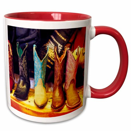 Party City Albuquerque Nm (3dRose Cowboy boots, Old Town Albuquerque, NM - US32 JGI0001 - Jerry Ginsberg - Two Tone Red Mug,)
