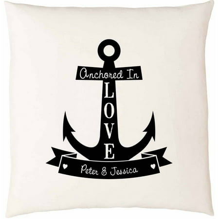 Personalized Anchored In Love Pillow