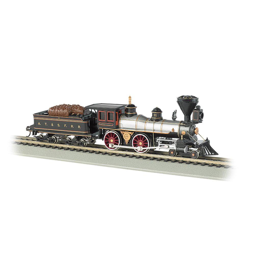 Bachmann Trains Santa Fe #91 Electric Train Model + Tender, HO Scale | 51102-BT by Bachmann Trains
