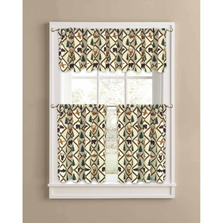 Better Homes And Gardens Brown Cabin Quilt Valance Kitchen